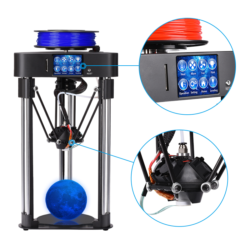 BIQU mini magician impressora delta 3d printer kits frame full assmbly multicolor with HD Touch screen 32 bit 3d printer board pre sale biqu magician full assembly desktop 3d printer 2 8 inch touch screen titan extruder 32 bits control board kossel delta