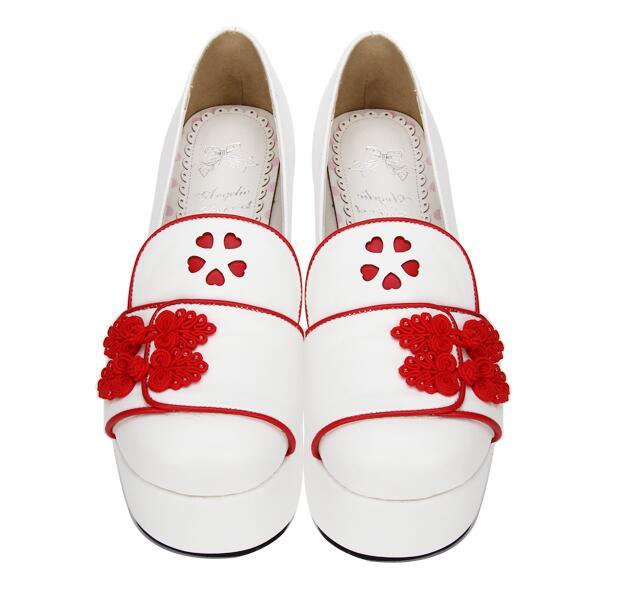 Angelical Impresión Vestido Partido Zapatos Lolita Bombas Estilo Princesa Mujeres Chica Altos Mori China 33 Tacones Mujer Red 47 Señora Cosplay dZnSr8Zqa