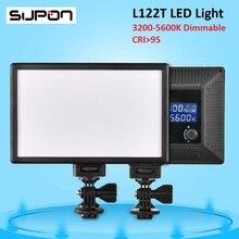 SUPON L122T LED 3300 К-5600 К Ультра тонкий ЖК-Би-Цвет и Затемнения Студия Video Light Лампа панели для Камеры DV Видеокамеры