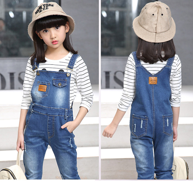 220a7c45f0ae5 Big Boys or Big Girls Soft Washed Denim Bib Overall Set Striped Top + Jeans  Outfit LY057
