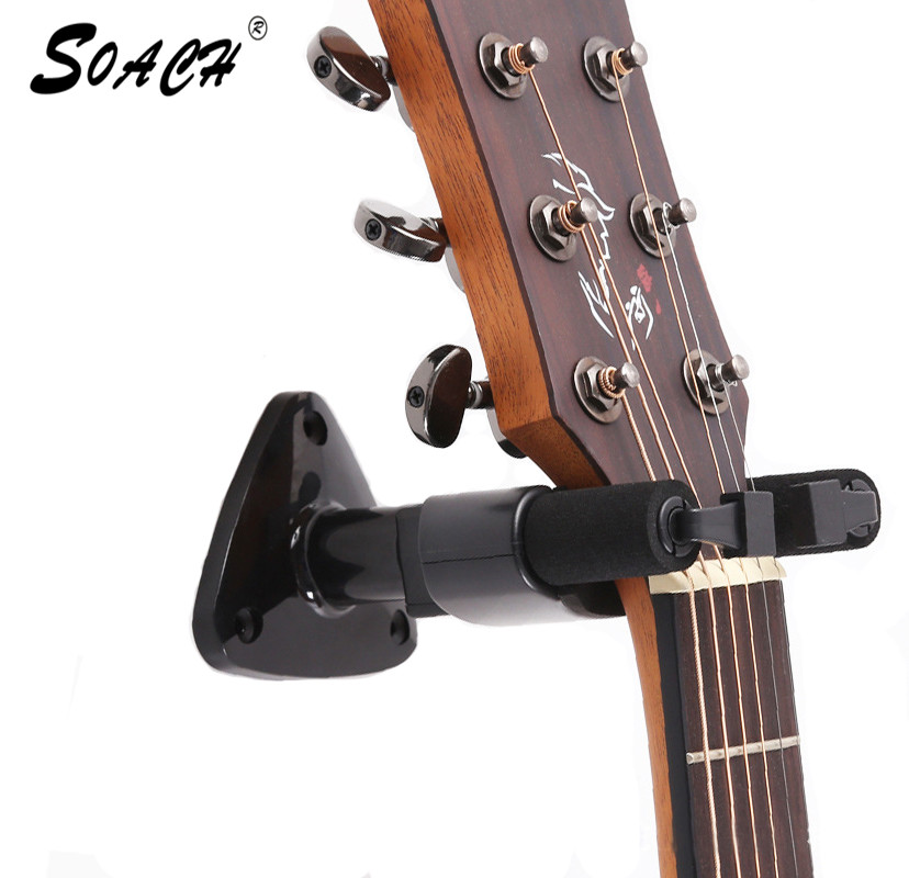 SOACH Guitar Hanger Bracket Tilbehør Bass Ukelele Easy Installation Universal Wall Strap Holder Stativ Rack Vedhæng Hook