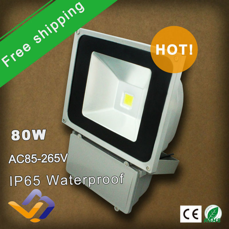 ФОТО 5pcs/lot free shipping outdoor LED Flash Landscape Lighting 80W 85-265V energy saving Floodlight colorful garden square lamp
