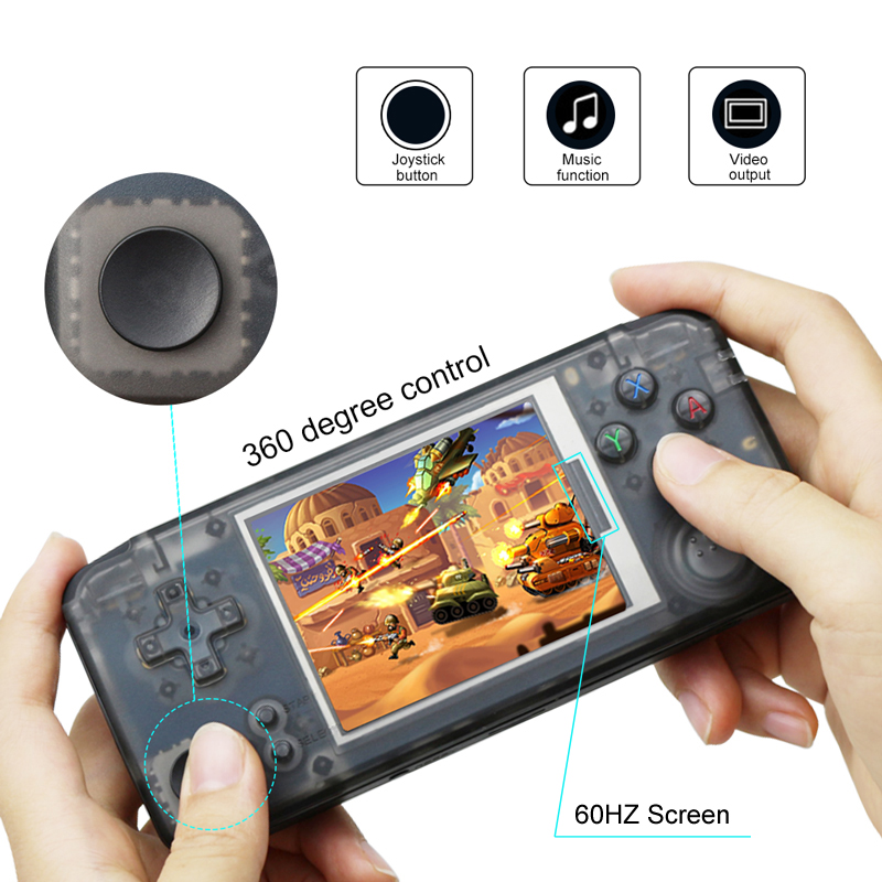 RS 97 Classic Retro Handheld Game Console Video Game Player 3.0 inch Screen 16GB Portable Games Player Built in 3000 Games