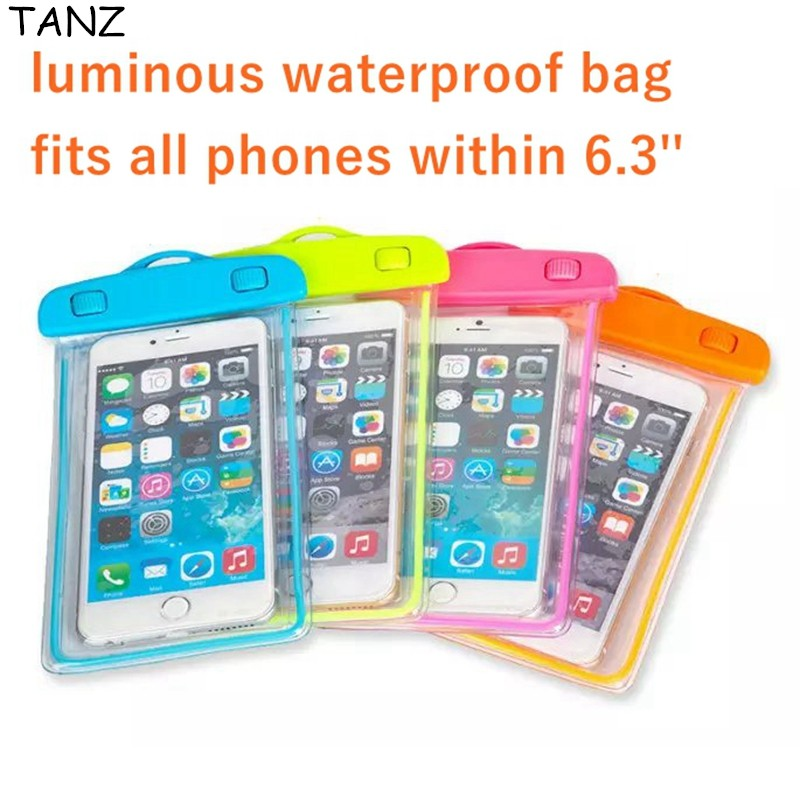 TANZ Universal Luminous Waterproof Bag For Samsung Galaxy S5 S6 Plus Note 3  4 5 J7 0dee1ac12e