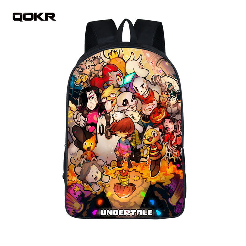 QOKR Anime Undertale Backpack for Teenage Girls Boys Book Bag Sans Women mochila Men Travel Bag Children School bookbags ...