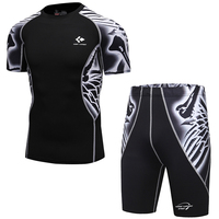 Breathable New Compression Suits for Men MMA Rashg ...