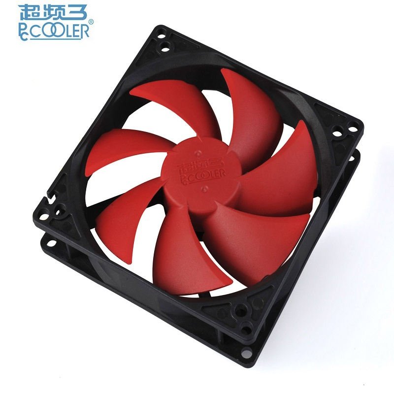 PcCooler 9cm 10cm Universal quiet fan Single fan Washable super mute for power supply for computer Case cooler free shipping new 3u ultra short computer case 380mm large panel big power supply ultra short 3u computer case server computer case