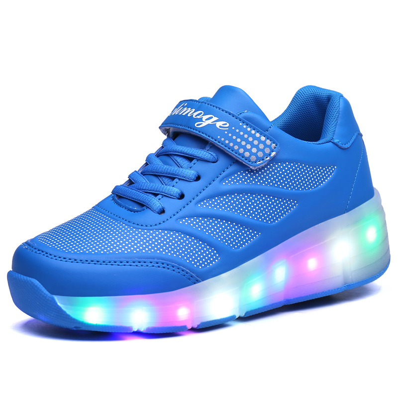 new Children shoes LED Light up Kids Sneakers Shoes Ultra-Light Boys Girls glowing Zapatillas children glowing sneakers kids roller skate shoes with wheels led light up glowing shoes for boy girls zapatillas hombre