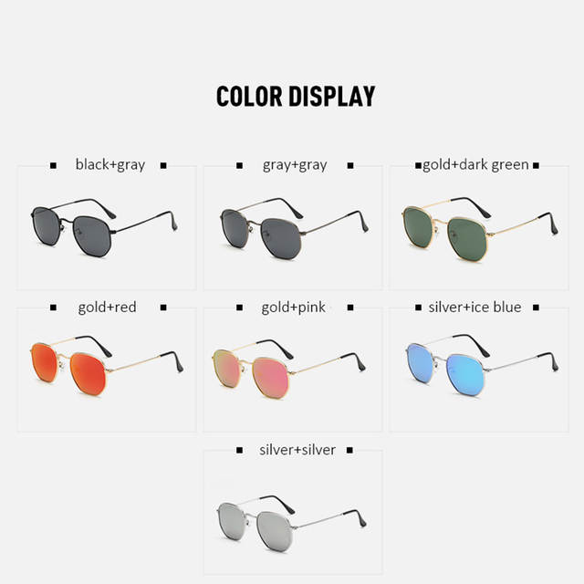e9d81022cd5 HAPIGOO Fashion Classic Men Driving Polarized Hexagonal Sunglasses Women  Mirror Brand Designer Sun Glasses For Female