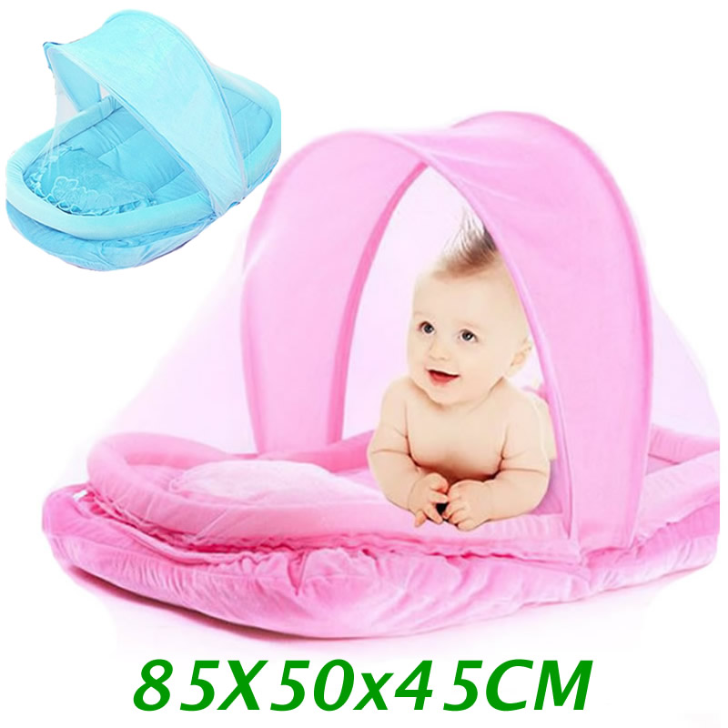 Lovely Pink Blue Newborn Baby Mosquito Bed Baby Travel Bed Portable Crib Netting Comfortable Child Baby Mosquito Nets Tent CP11 mosquito nets curtain for bedding set princess bed canopy bed netting tent