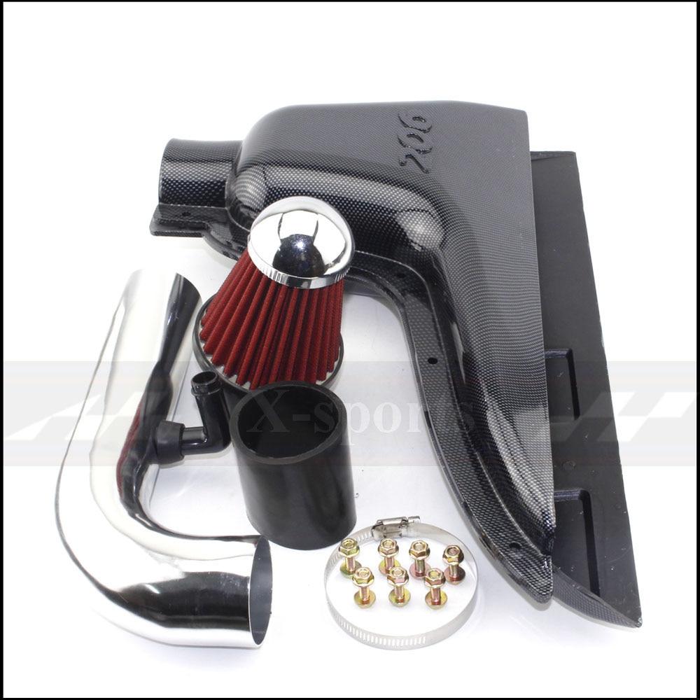 Filtre à Air de boîte d'admission de systèmes d'entrée d'air à haut débit de voiture de pièces d'auto pour Peugeot 106 206 306 VTS faux Style de Fiber de carbone