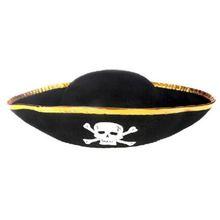 Tri Corner Pirate Hat - Three Cornered Buccaneer Костюм Аксессуар Шляпа