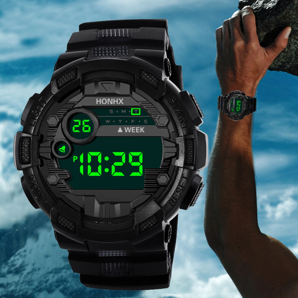 Digital Watch Electronic-Wristwatches Shock G-Style Military Camouflage Led-Display Male