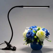 LED Desk Lamp Eye Protection Clamp Clip 8W Ultra Bright Bendable USB reading Lamp Adjustable Brightness Table Lamps for bedRoom