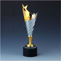 High quality!High grade metal trophy/large crystal trophy /five pointed star team awards,Free shipping
