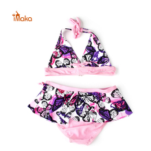 Clearance! Two Pieces Swimsuit Kids Girls Swimwear Bikini Child Bathing suit Costume biquini infantil