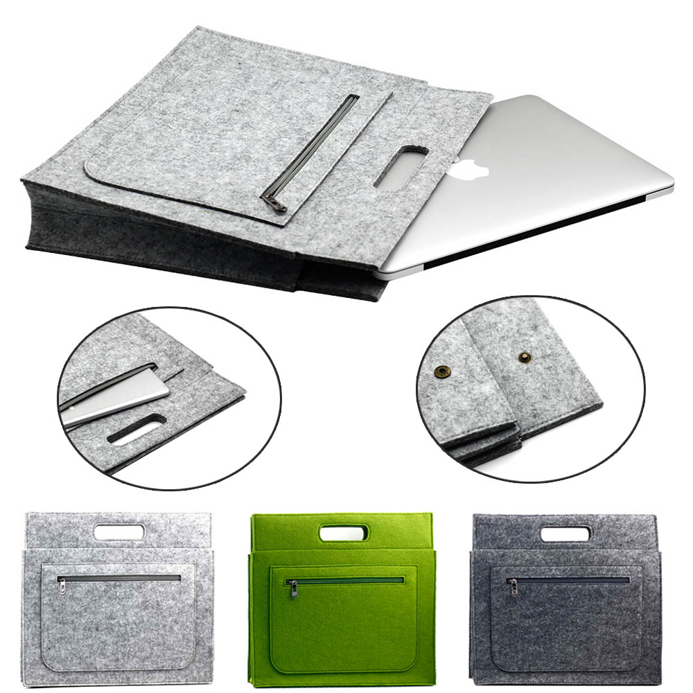d339e2badeb9 US $8.49 15% OFF Universal Business Woolen Felt Sleeve Bag Case Cover Pouch  For MacBook Air Pro 11