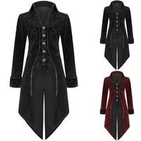 Oeak 2019 Hot Men Vintage Luxury Steampunk Coats Retro Mens Gothic Punk Style Costume For Party Men Outwear Tuxedo Coat