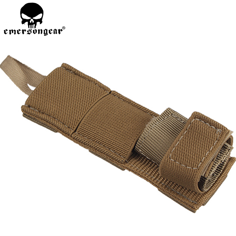Emersongear Tactical Military Radio Antenna Relocation Small Molle Pouch Emerson Army Airsoft Combat Gear EM8326A Dark Earth