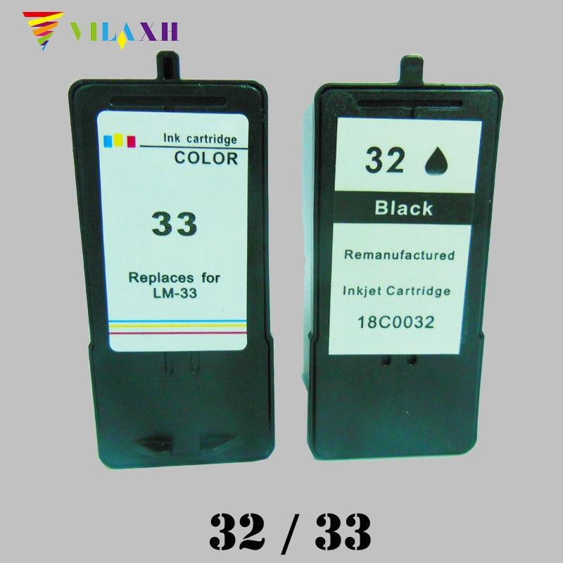 Para Lexmark 32 Cartucho de Tinta 33 para Lexmark P315 P4330 P4350 P450 X5410 X5450 X5470 X7300 X8310 X7350 X8350 Z810