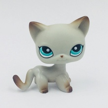 real rare pet shop lps toys standing old real short hair cat #391 rare Egyptian Grey Action figure free shipping