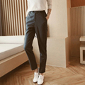 3 Colors Women Autumn Pants 2016 Single Button Casual Ladies Pencil Trousers Slim Thicken Office Pants Women Work YF200