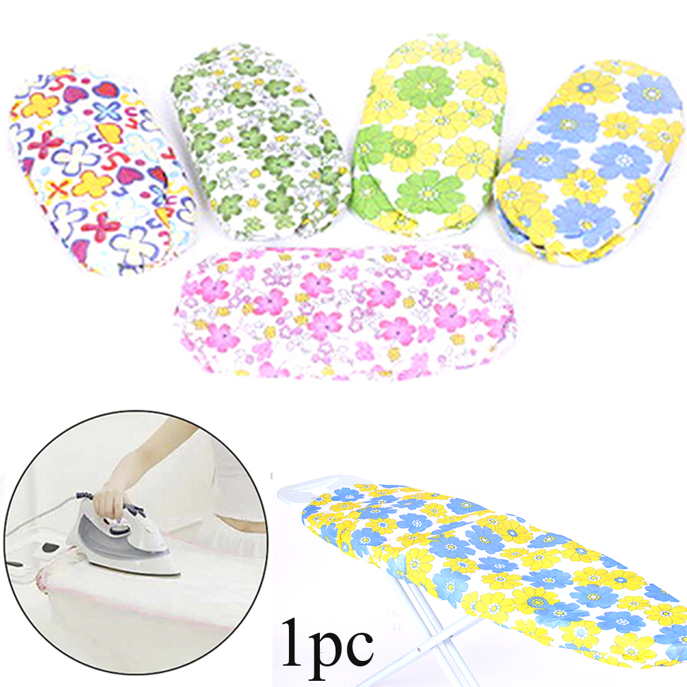 Reusable Lightweight Ironing Board Cover Exquisite Practical Thick Protective Elastic Edge Floral Print Heat Resistant Washable image