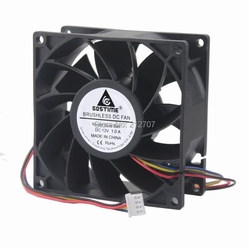 2pcs 9.2cm 12V DC PC Computer Case Fan Cooling 12volt 3Pin 92mm x 92mm x 25mm