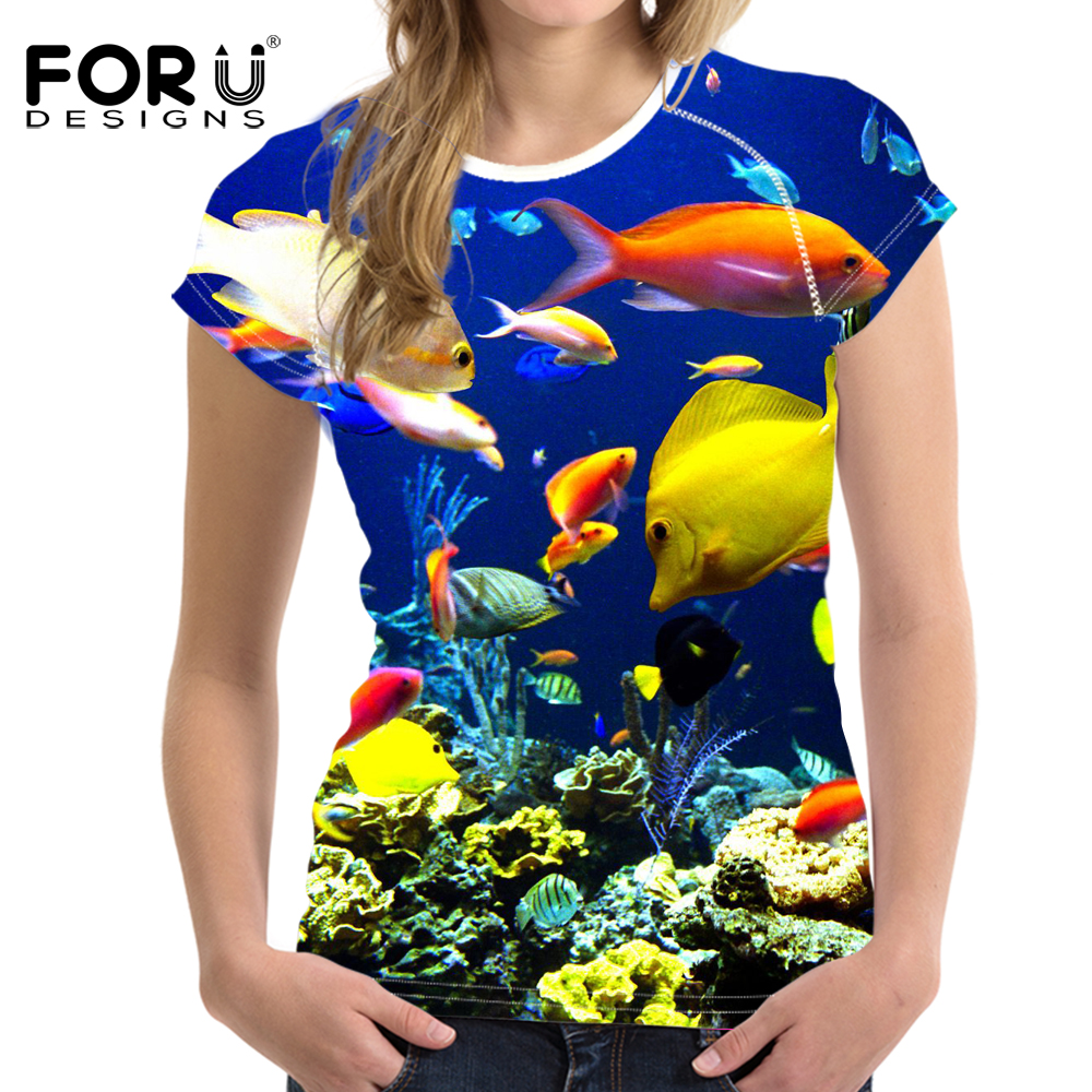 Best deal FORUDESIGNS Royal Blue T Shirt Women