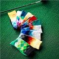 20 par/lote venta al por mayor de marca Tide calcetines felices del Color del gradiente párrafo del estilo del verano medias de algodón puro