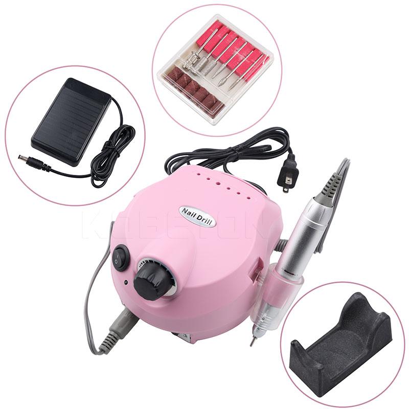 Professional Electric Nail Drill Machine Polisher Manicure Kit File Bits 30000 RPM Pink Nail Polisher Nail Art Tools цена