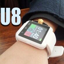 Smart watch u8 mujer/hombre deporte gimnasio rastreador bluetooth smartwatch para android ios teléfono pk apple watch gt08 dz09 u80