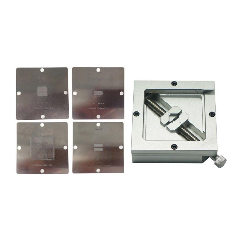 4 pces 90*90mm ps4 bga estênceis de aquecimento + HT-90 bga reballing estação para microplaquetas retrabalho bga reballing