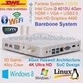 Barebone PC HTPC Haswell SoC 4 K HD Kodi Design Intel Core i3 4010U Mini PC Windows 3 anos de garantia DHL