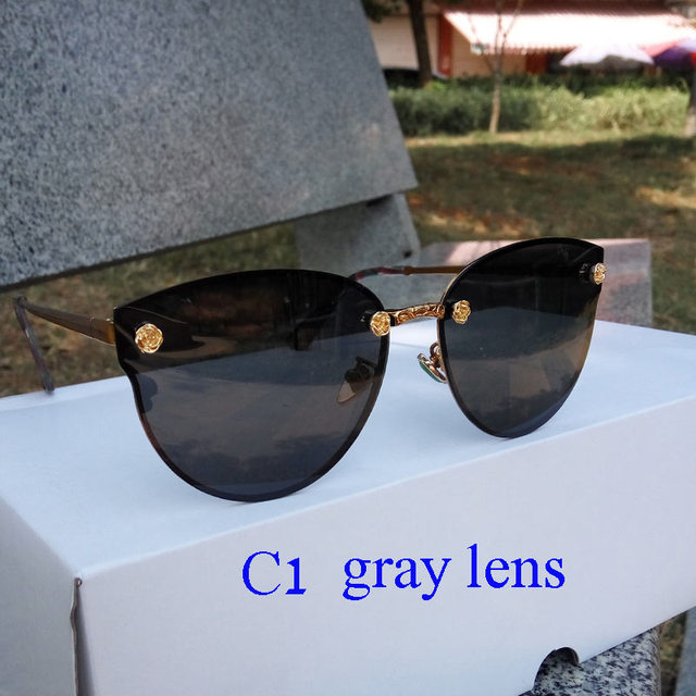 c4a27f88aa2c luxury brand flower Polarized sunglasses women 2018 at eye Sunglasses  carved glare men sunglasses blue Gold gray red Purple