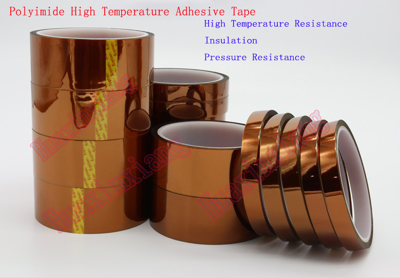 High Temperature Polyimide Heat Resistant Adhesive Tape Insulation/non-scratch Kapton 33M Length 55mm x 33m 100ft kapton tape high temperature heat resistant polyimide fast ship