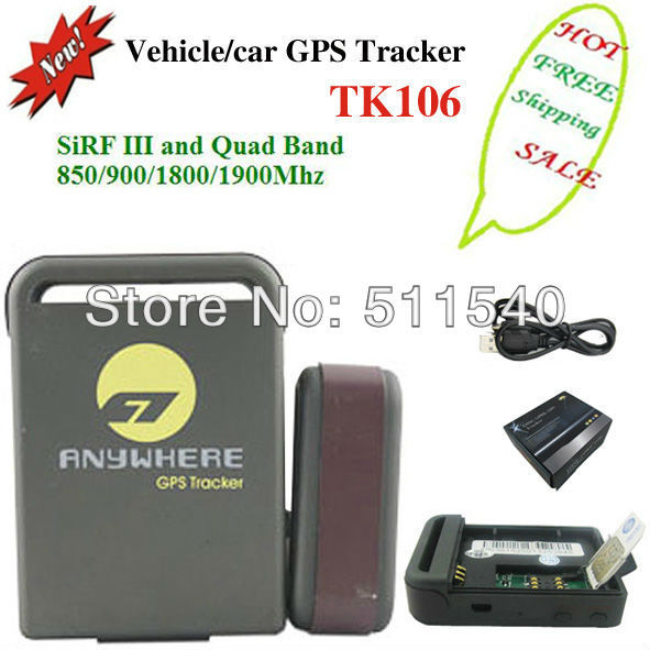 small personal gps tracker TK106, locate and monitor any remote targets by SMS or gprs at the same time.