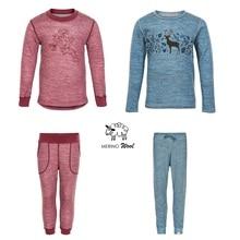 Мериносовая шерсть, бамбуковое детское Спортивное нижнее белье, топ, рубашка, штаны, супер мягкие подштанники для мальчиков и девочек