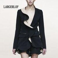 LARGERLOF Дамы Приталенный Блейзер Осень для женщин блейзер элегантный пальто для будущих мам зима длинный BR50014