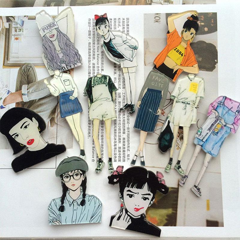 1 предмет мультфильм акриловая значок Обувь для девочек в виде украшения Шпильки Значки Broochs