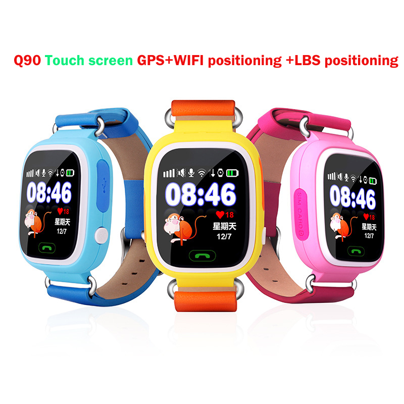 GPS Q90 Touch Screen WIFI Positioning Smart Watch SOS Call Location Locator