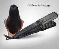 Titanium Hair Straightener Iron Professional Hair Styling Tools Flat Iron Hair Straight Hair Curly Dual Function