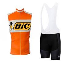 BIC vest Men cycling jersey short sleeve/sleeveless clothing bike classic wear jersey set bib shorts Gel Pad road kit