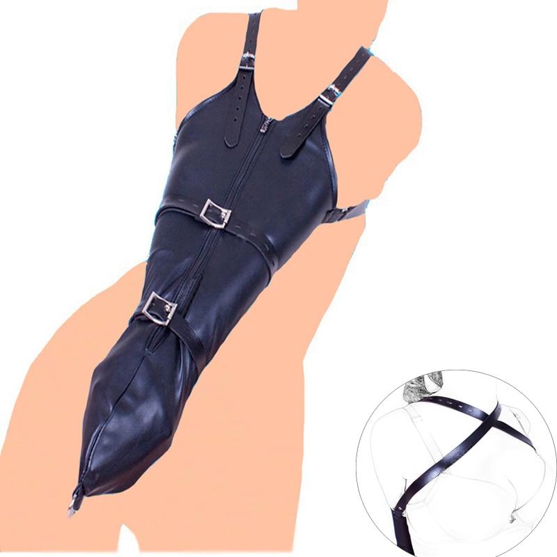 Other Sexual Wellness Satin Body Harness Corset Restraint Bondage Straight Jacket Arm Cuffs Handcuffs Health Care