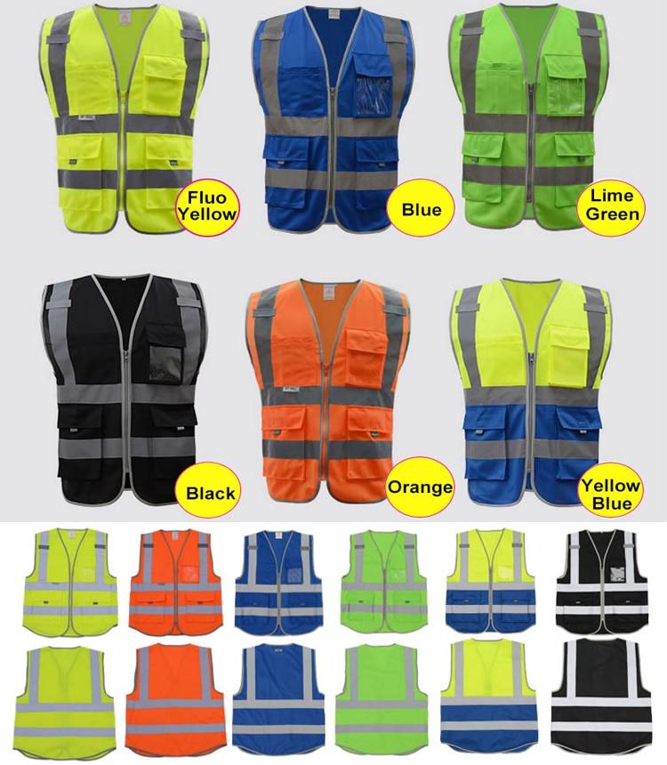SFvest High visibility safety vest reflective polyester knitted reflective vest free shipping цена