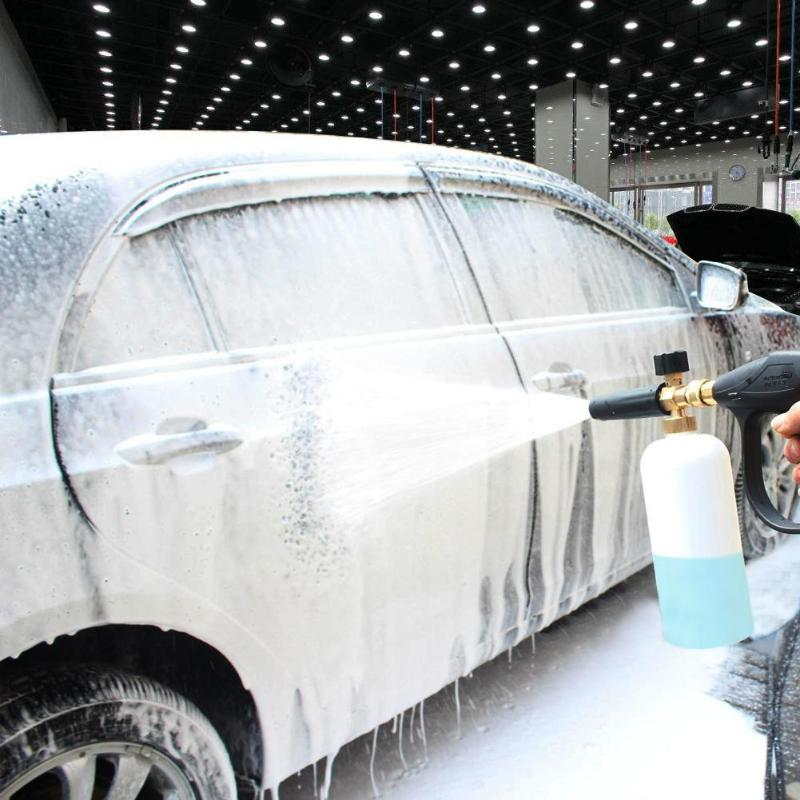 High Pressure Wash Foam Bottle Air Pulse Water Washing Sprayer Soap Foamer Adjustable Foam Lance Car Sprayer Gun