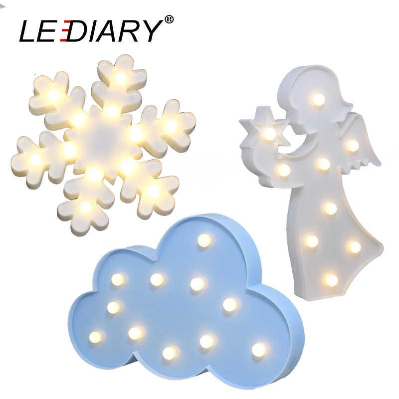 Светодиодный креативный 3D ночник в форме снежинок, желтая звезда, синяя Луна облако, белый ангел, девочка, светодиодный прикроватная настольная лампа для детей