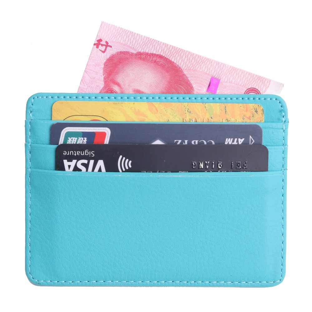 TRASSORY hombres mujeres Durable Delgado Simple viaje Lichee cuero banco de negocios ID tarjeta cartera titular caso con monedero