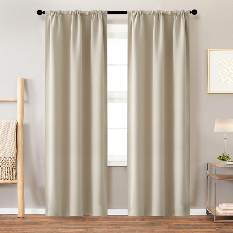 Short Blackout Curtains For Bedroom Curtains Set For Kid's Room Baby Room(China)