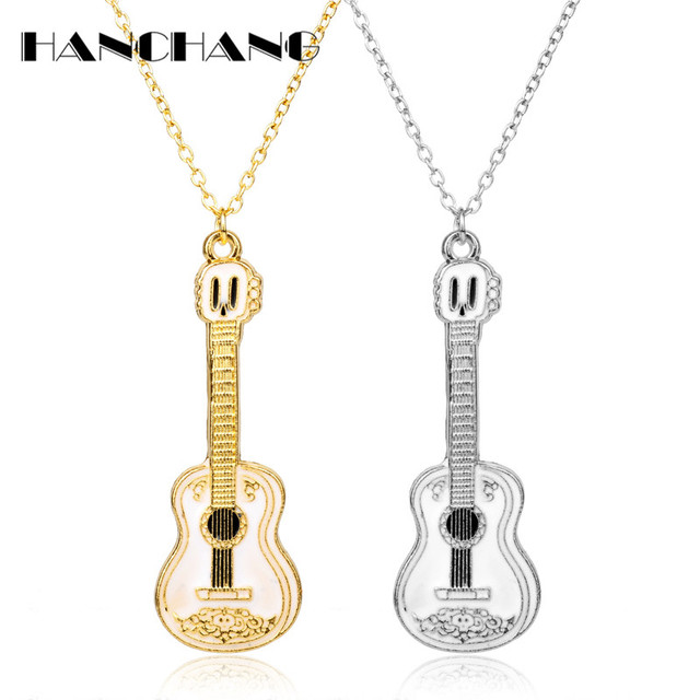 0f2278629 Fashion Cool Jewelry Guitar Pendant Necklace Punk Women Man Charm Necklace  Music Fans Best Friends Gifts